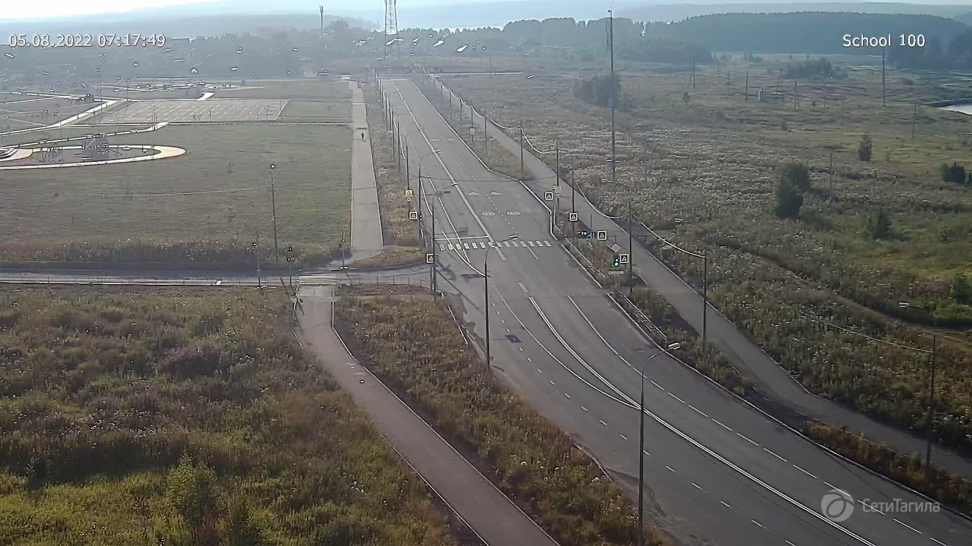 Webcam pedestrian crossing at school N 100, Nizhny Tagil, Sverdlovsk Region, Russia