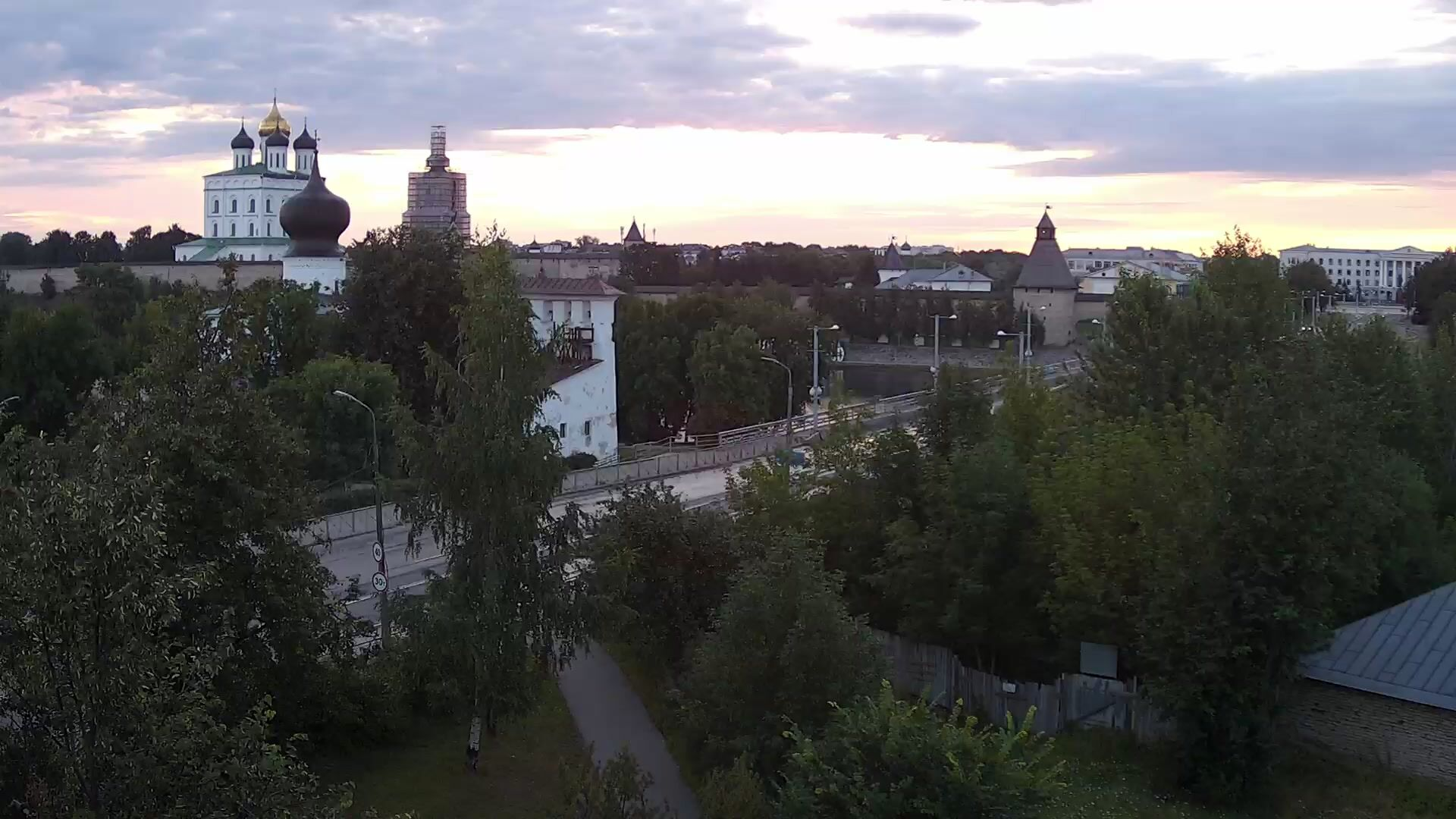 Webcam Olginskiy most, Pskov, Russia