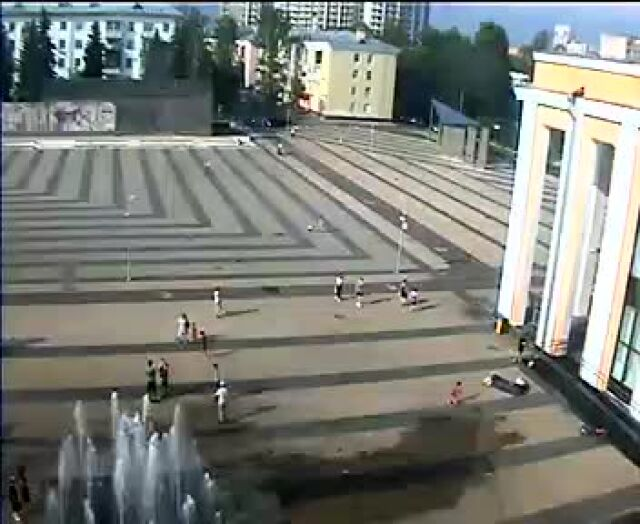Webcam Tereshkovoy -1 square, Korolyov, Moscow Region, Russia