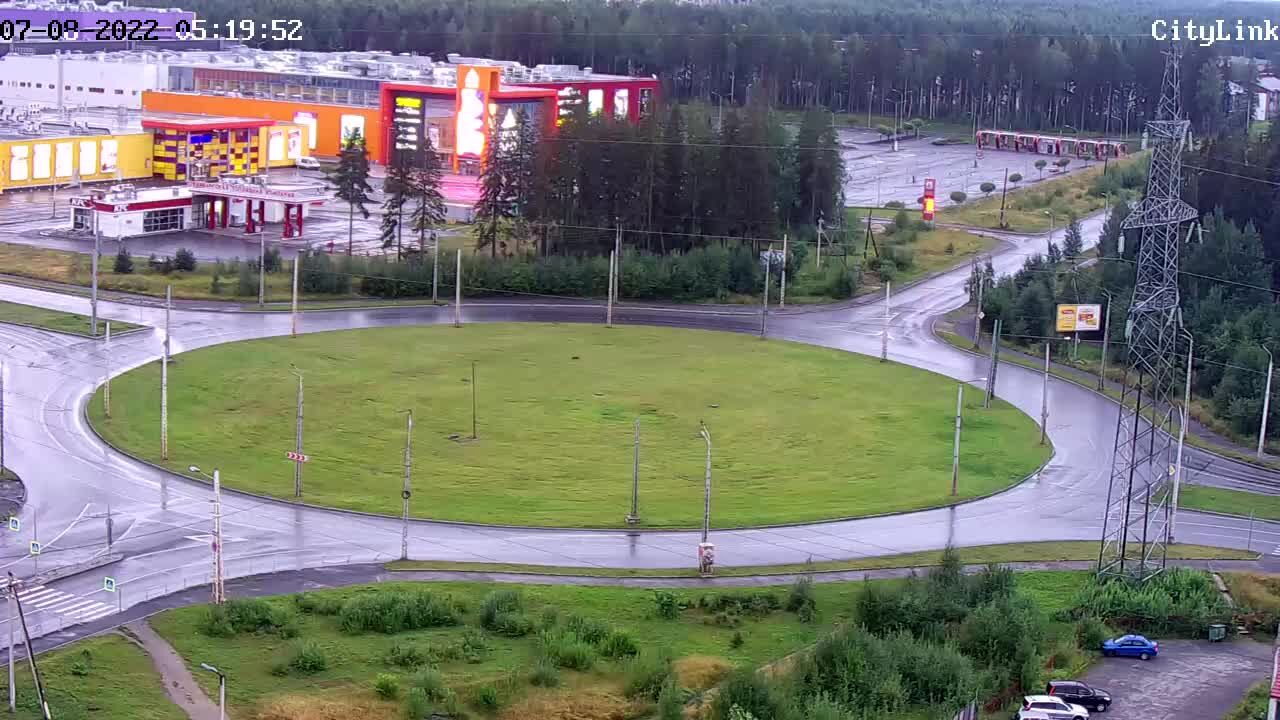 Webcam Verhnee chapaevskoe ring, Petrozavodsk, Republic of Karelia, Russia